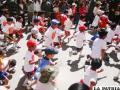 Niños en la competencia pedestre.