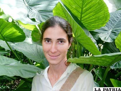 Yoani Sánchez conocida por notas compartidas en su bloc pide viajar libremente al extranjero para ocupar la portada de la página sobre Derechos Humanos del Ejecutivo estadounidense (Foto: lagartoverde.com)