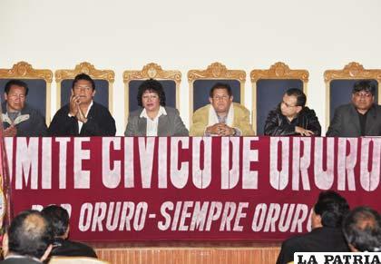 Inauguración de la Conferencia Nacional de Comités Cívicos