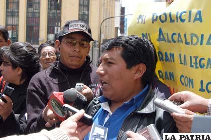 Carlos Ajhuacho, ejecutivo de los periodistas