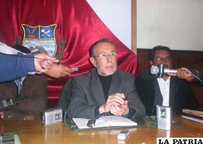 Juan del Granado, jefe nacional del Movimiento Sin Miedo