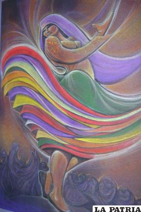 Una de las obras policromáticas que muestra la calidad del trabajo del artista orureño