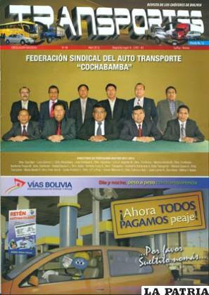 """Revista """"Transportes"""", una publicación de los choferes a nivel nacional"""