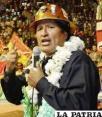 El presidente Morales y los cooperativistas mineros