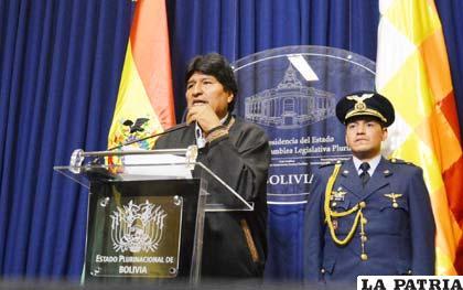 El Presidente Morales informa sobre el incremento salarial 2013