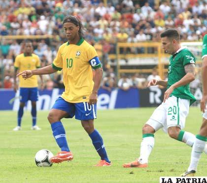 Ronaldinho, buen valor en la selección de Brasil