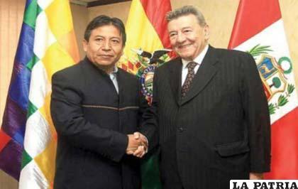 Los ministros de Exteriores de Bolivia y Perú
