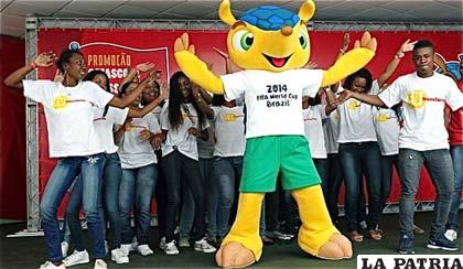 Fuleco, la mascota que identifica al Mundial de Fútbol que se realizará en Brasil