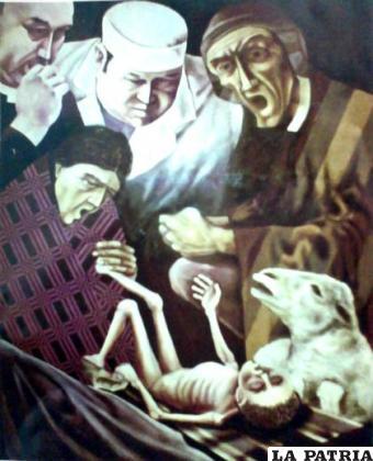 Cuadro de Walter Vargas Zurita, premio nacional de pintura
