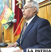 El escritor orureño Juan Carlos Villegas