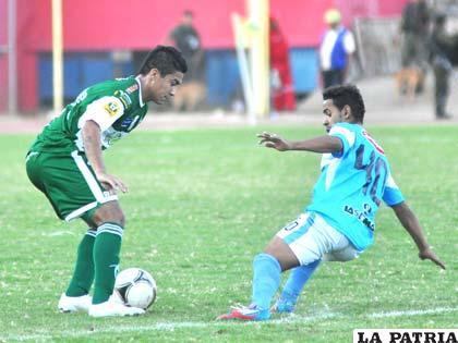 Una acción del partido que se jugó en Cochabamba