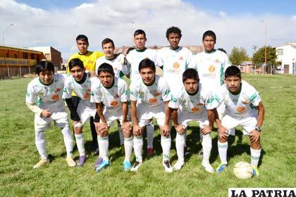 """El equipo de la Academia """"Tahuichi"""" en su visita a Oruro"""