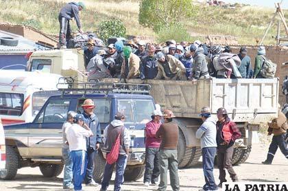 Mineros deciden suspender los bloqueos de manera temporal
