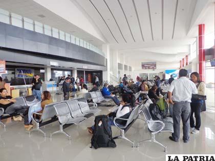 Terminal aérea registró bastante movimiento