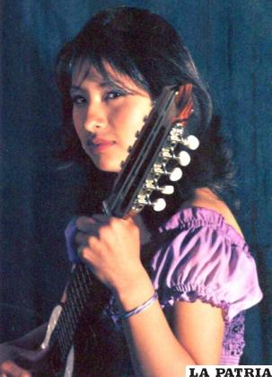 La charanguista orureña, Fabiola Aquino