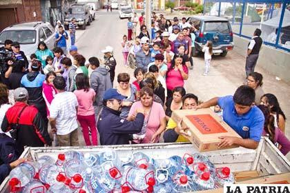 Existe escasez de agua en zonas donde sintió el sismo en Chile