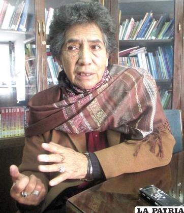 La representante del Defensor del Pueblo, Clotilde Calancha