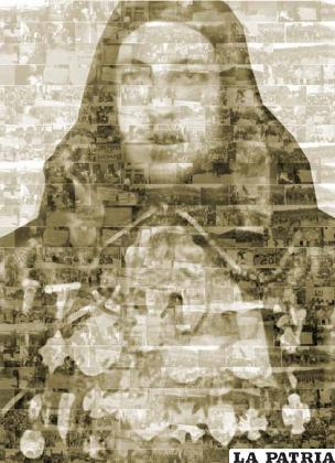 El panel de Juan Mendoza compuesto por las fotografías de los participantes