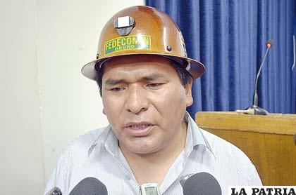 Agustín Choque, presidente de Fencomin