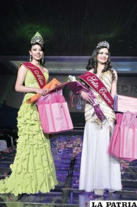 Alejandra Miranda Miss Oruro 2014 y Rudith Ibáñez Santiestevez Señorita Oruro 2014