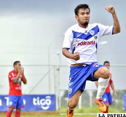 Jhosimar Prado fue autor del primer gol del equipo orureño