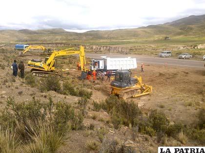 Trabajos preliminares en el proyecto caminero
