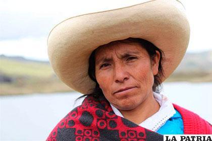 La campesina peruana Máxima Acuña