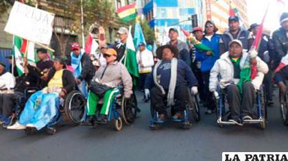 La decisión del Gobierno es reprochada por personas con discapacidad /ENLACESBOLIVIA.COM