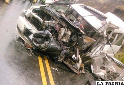 Así quedó el motorizado tras el accidente /ANF