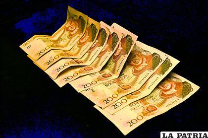 El dinero que se secuestró al joven extorsionador