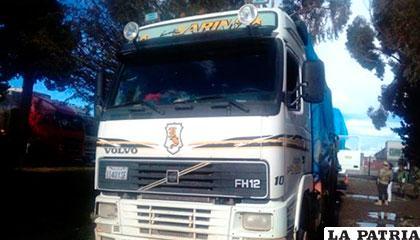 Uno de los camiones que llevaba el contrabando /PAGINASIETE.COM