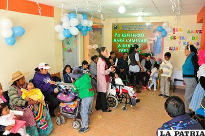 Niños con discapacidad fueron los que más festejaron el aniversario del centro