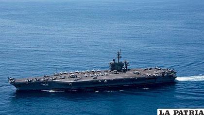 Grupo de ataque de la marina fue enviado al océano Índico