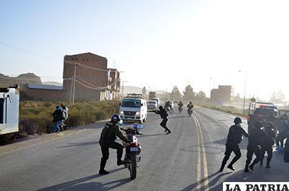El momento que la banda delincuencial es capturada en el sector de la urbanización