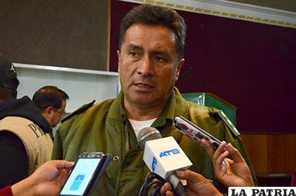 El comandante Departamental de Policía, coronel �?scar Rojas dio a conocer el cambio de autoridad en el penal de San Pedro