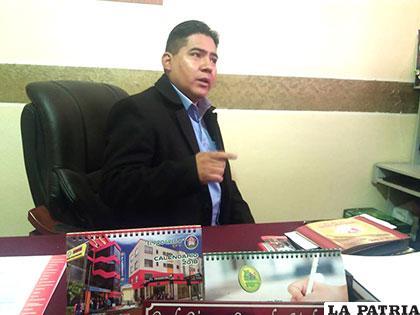 Ejecutivo del Magisterio Urbano de Oruro, Rimmy Gonzales /Archivo