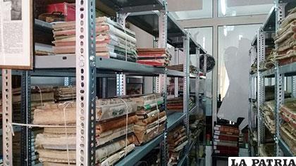 La hemeroteca de la Biblioteca de la Casa Municipal de Cultura