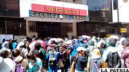 Movilización que protagonizaron los universitarios