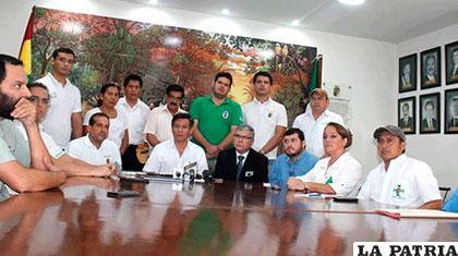 Reunión de cívicos en Santa Cruz /Comité Cívico Pro Santa Cruz