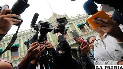 El trabajo diario de los medios de comunicación /Anoticia2 Bolivia