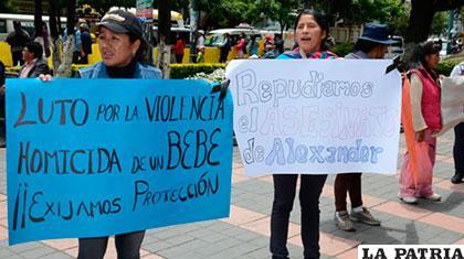 Protestas por la muerte del bebé Alexander