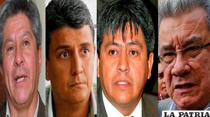 Autoridades que fueron alejadas del cargo porque tienen procesos penales en contra /ANF