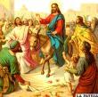 El Domingo de Ramos, Jesús montó un sereno jumento en medio de la multitud