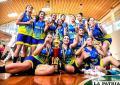 La plantilla de jugadoras de Carl A-Z campeonas en la Libobásquet (foto: marka-registrada