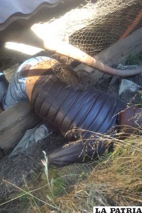 El cuerpo del minero fue encontrado en esa posición /LA PATRIA
