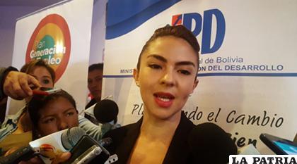 Mariana Prado, ministra de Planificación / ANF