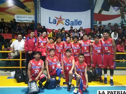Los integrantes de La Salle que superaron a De la Cruz de Montero / CORTESÍA CLUB LA SALLE