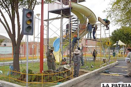 Las obras del parque no fueron del agrado del alcalde/ GAMO