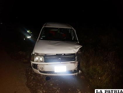 El conductor de este vehículo se dio a la fuga / LA PATRIA
