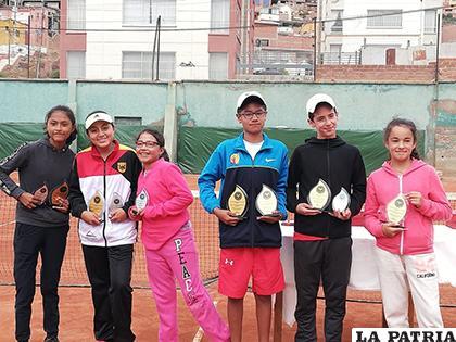 Los campeones de la U14 en el nacional de tenis G2/ CORTESÍA ATO